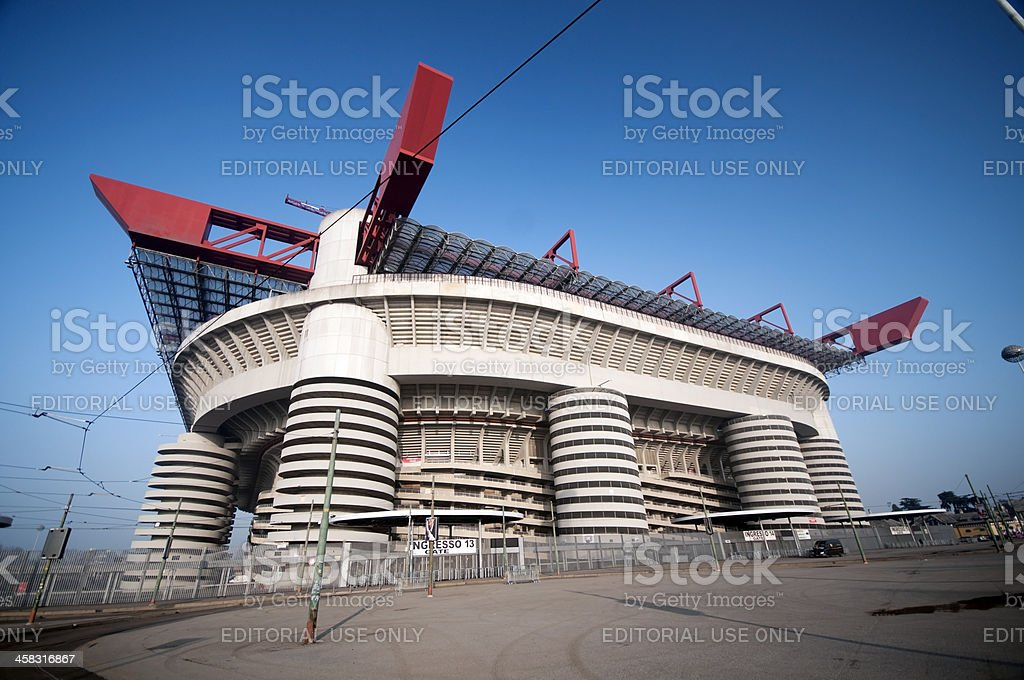 Football Stadium of 'S.Siro' in Milan royalty-free stock photo