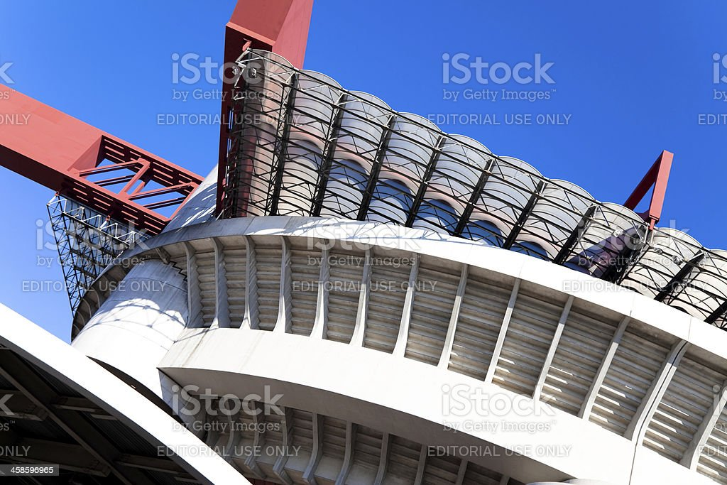 Football Stadium of 'S.Siro' in Milan - Stock Image stock photo