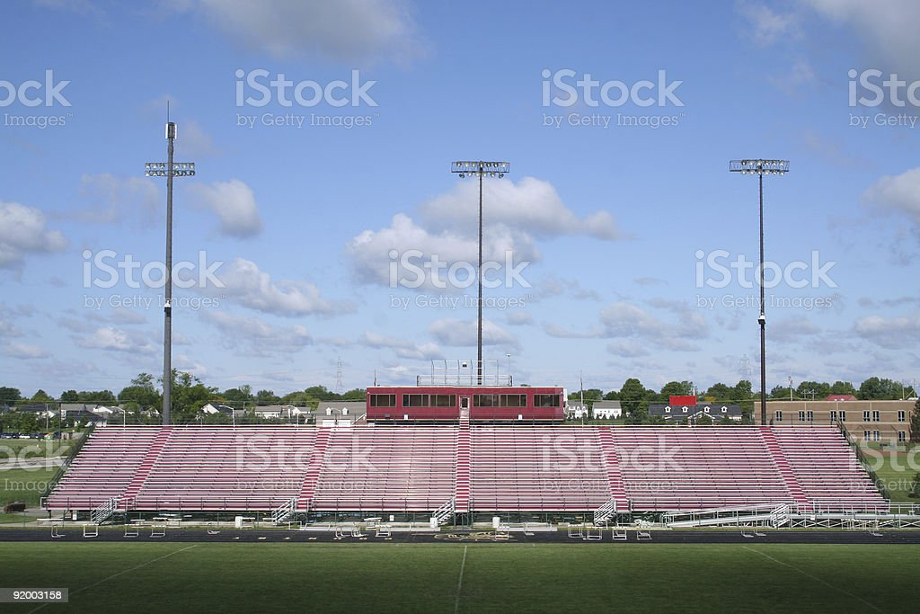 Football stadium stock photo
