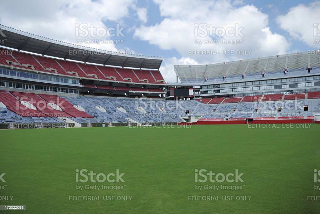 Football Stadium Preseason stock photo