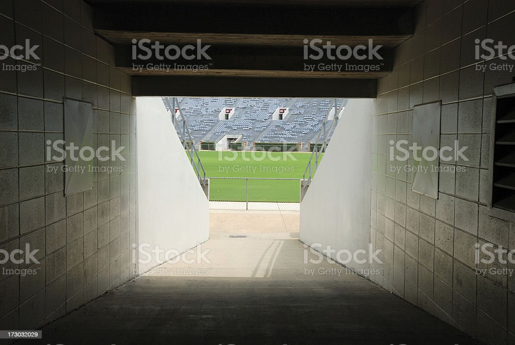 Football Stadium Tunnel - Long Version stock photo