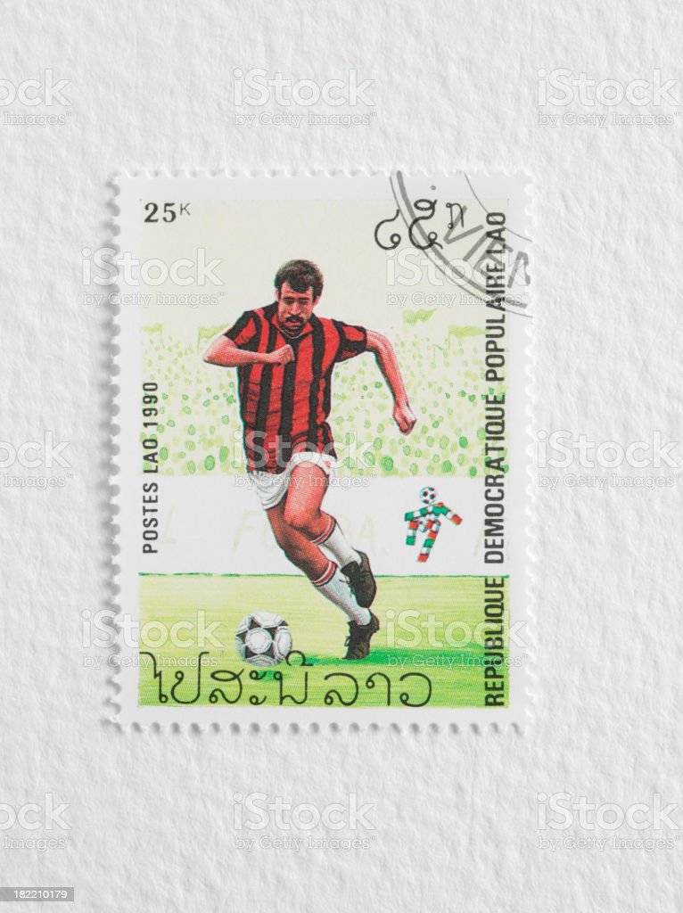 Football Stamp royalty-free stock photo