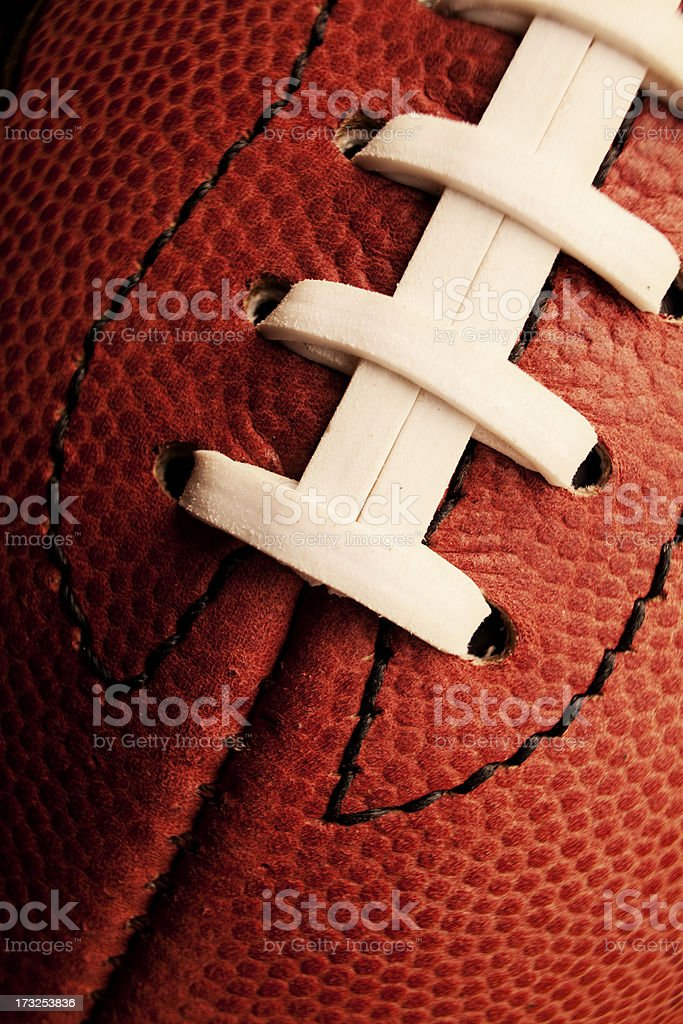 Football Stitches royalty-free stock photo