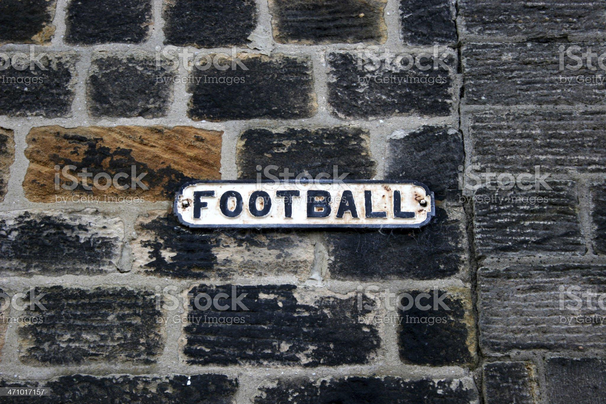 Football - street sign royalty-free stock photo