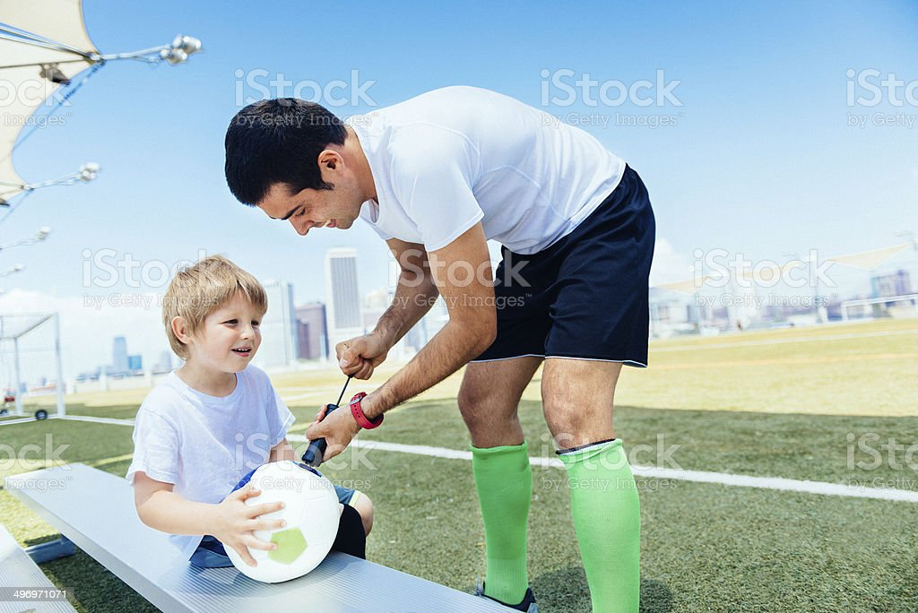 Football Summer Camp in New York royalty-free stock photo