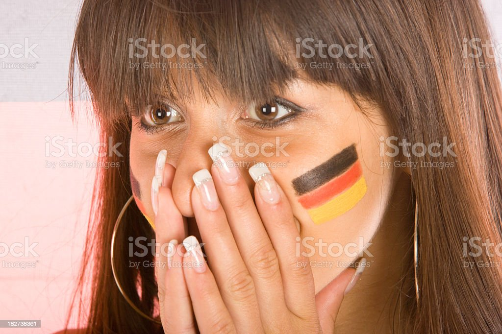 Football supporter royalty-free stock photo