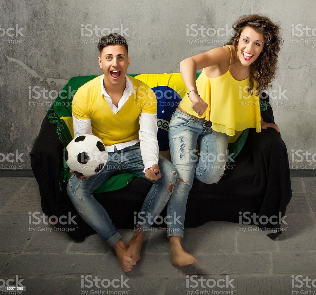 football supporter exciting emotions