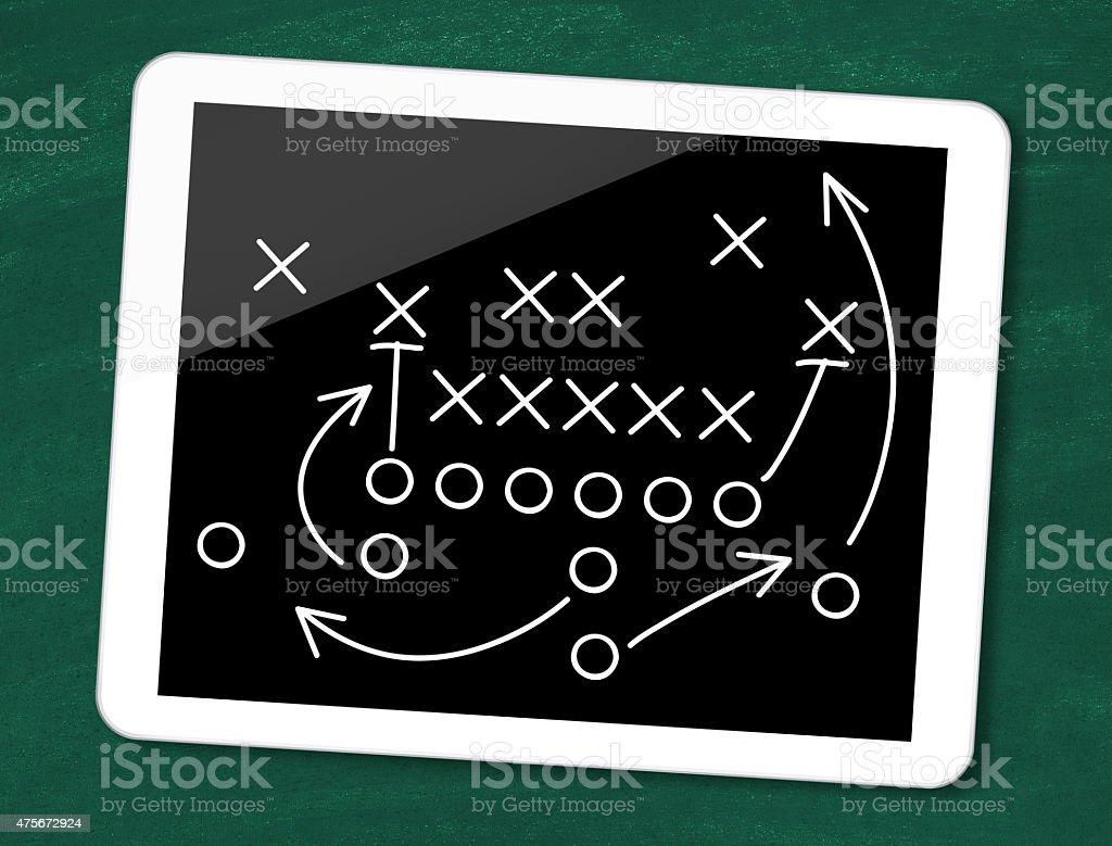 Football tactics stock photo
