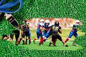 USA football team playing game.