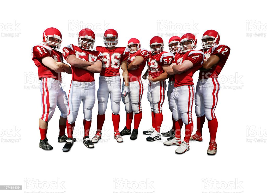 Football Team with Clipping Path stock photo