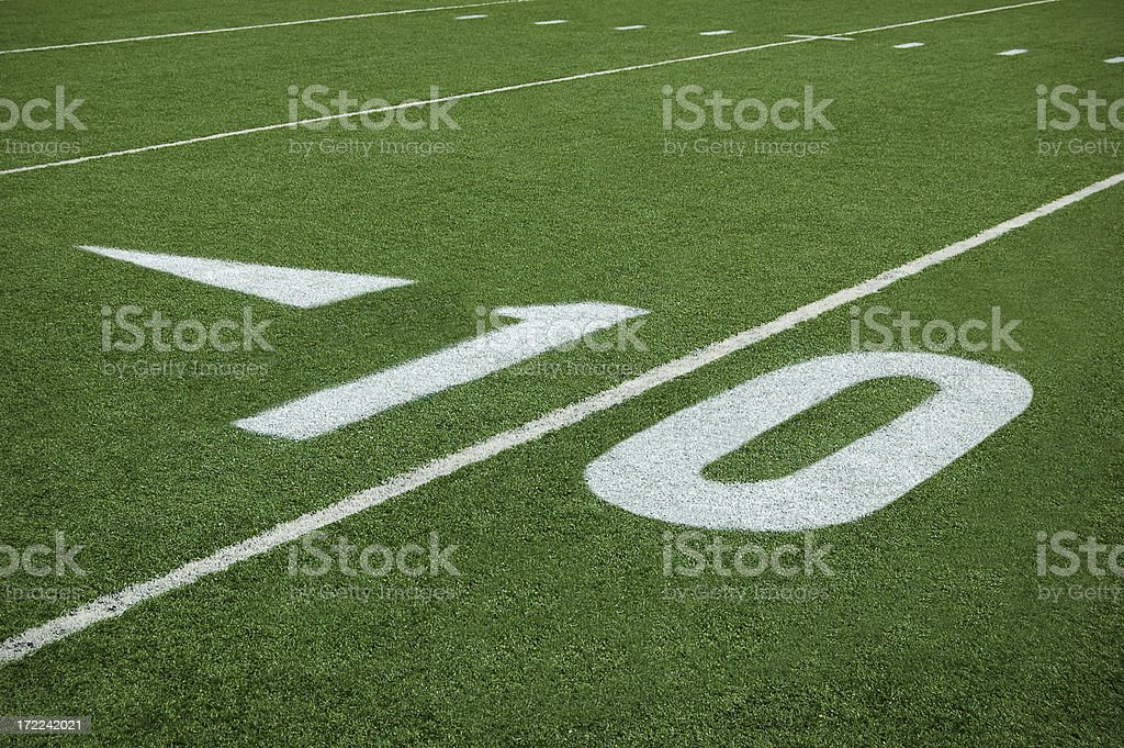football ten yard line royalty-free stock photo