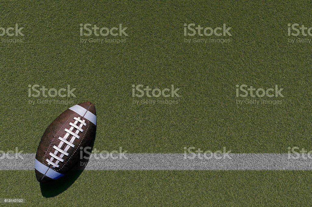Football theme stock photo