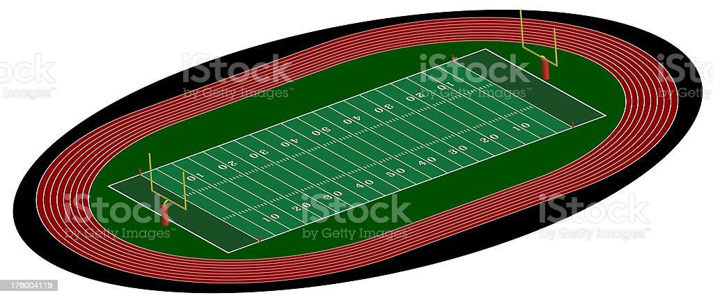 Football track & Field stock photo