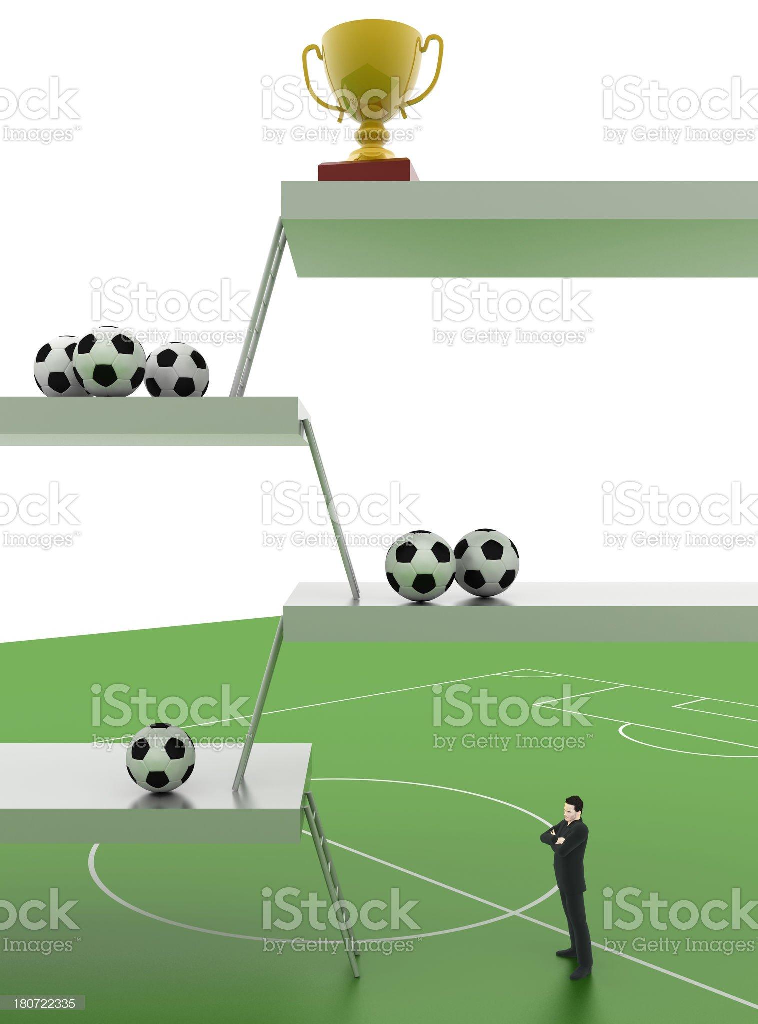 Football Triumph royalty-free stock photo