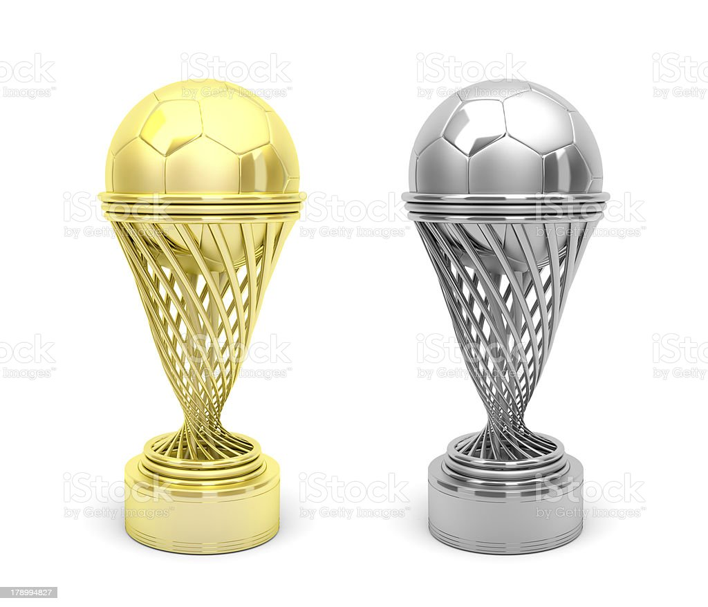 Football trophies royalty-free stock photo