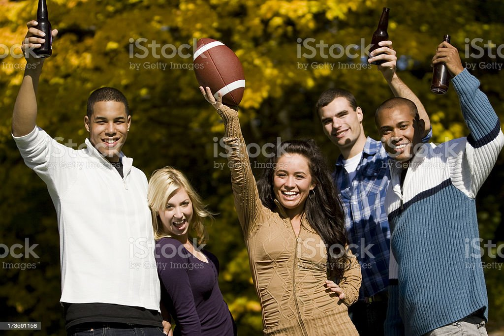 Football Victory Party stock photo