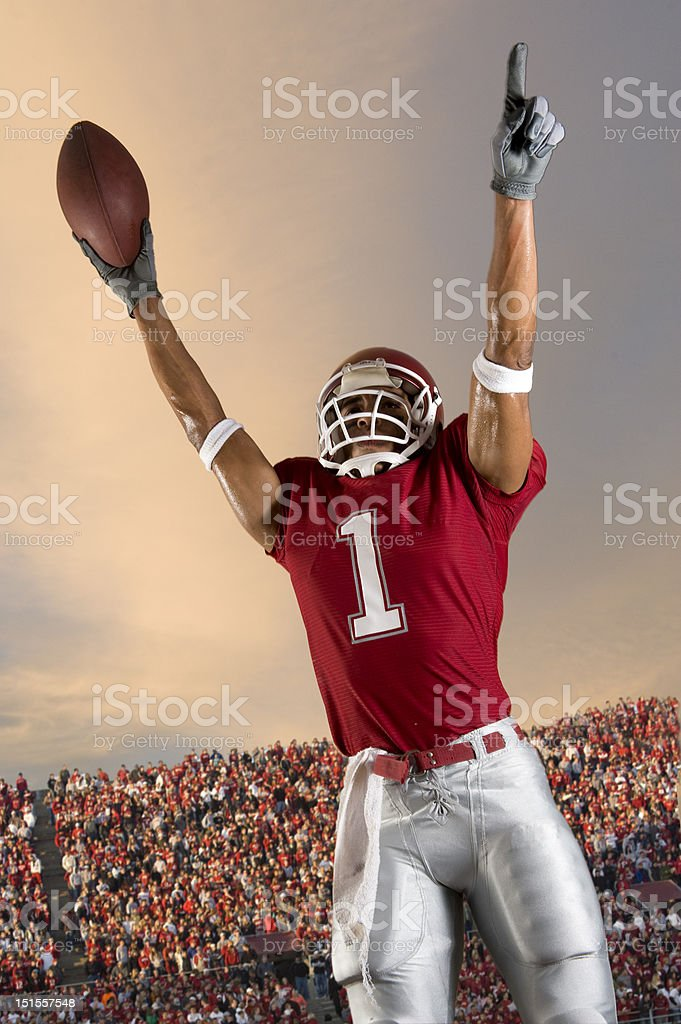 Football Victory stock photo
