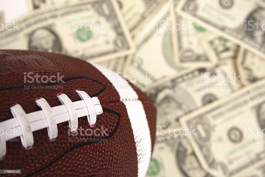 Football wagering royalty-free stock photo