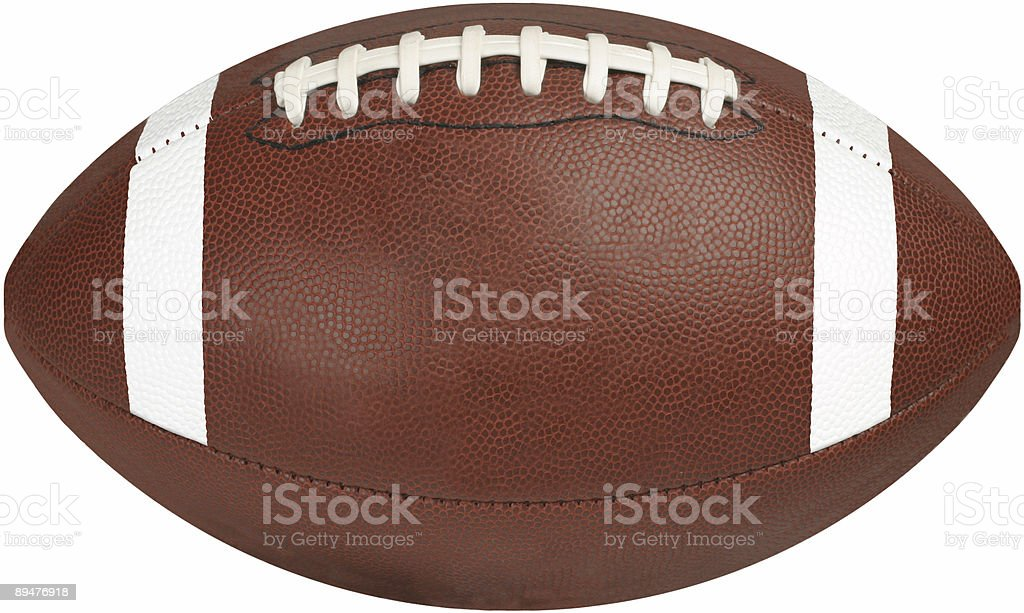 Football Wide-Clipping Path stock photo