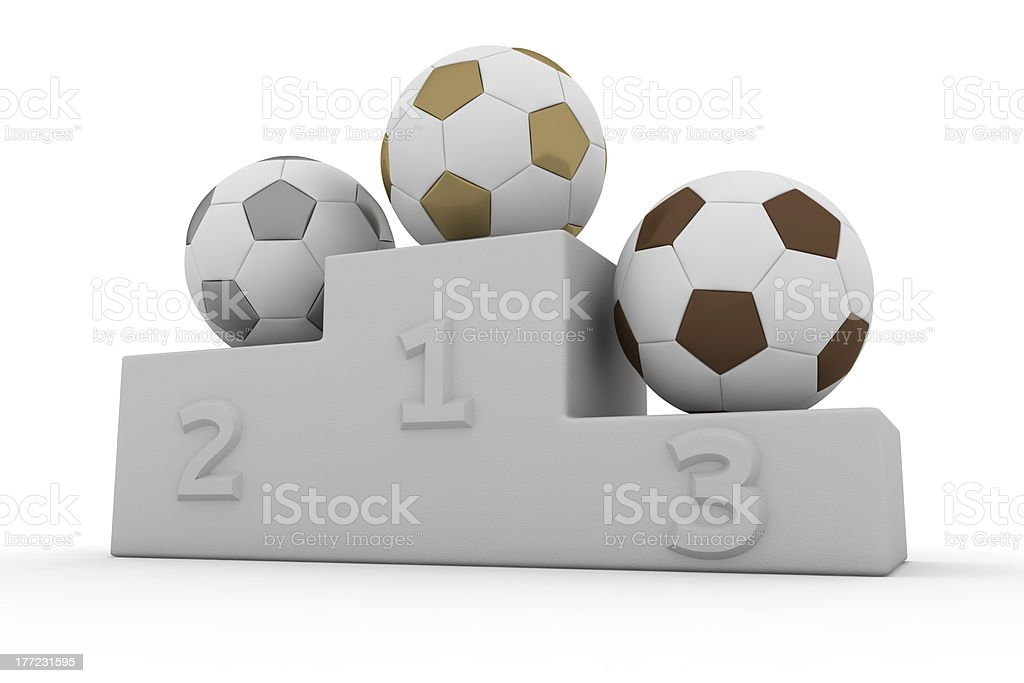 Football winners royalty-free stock photo