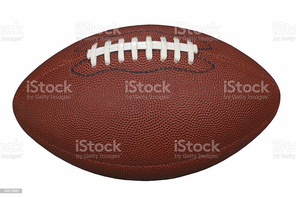 Football with Clipping Path royalty-free stock photo