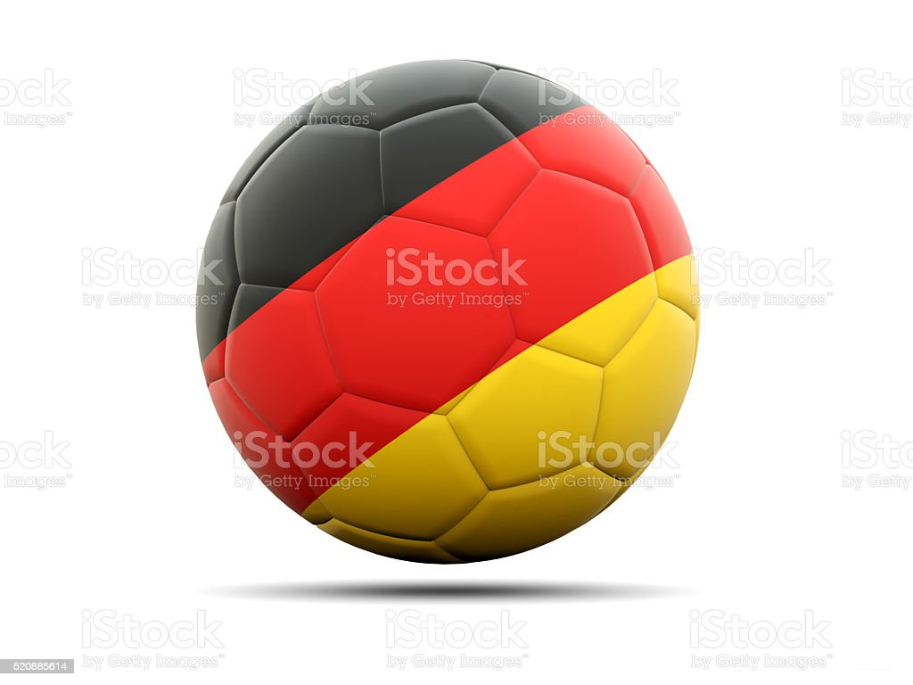 Football with flag of germany stock photo