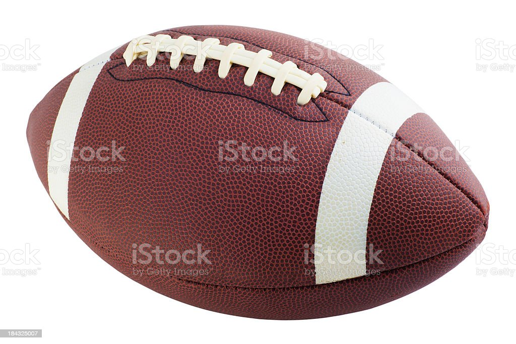Football with path stock photo