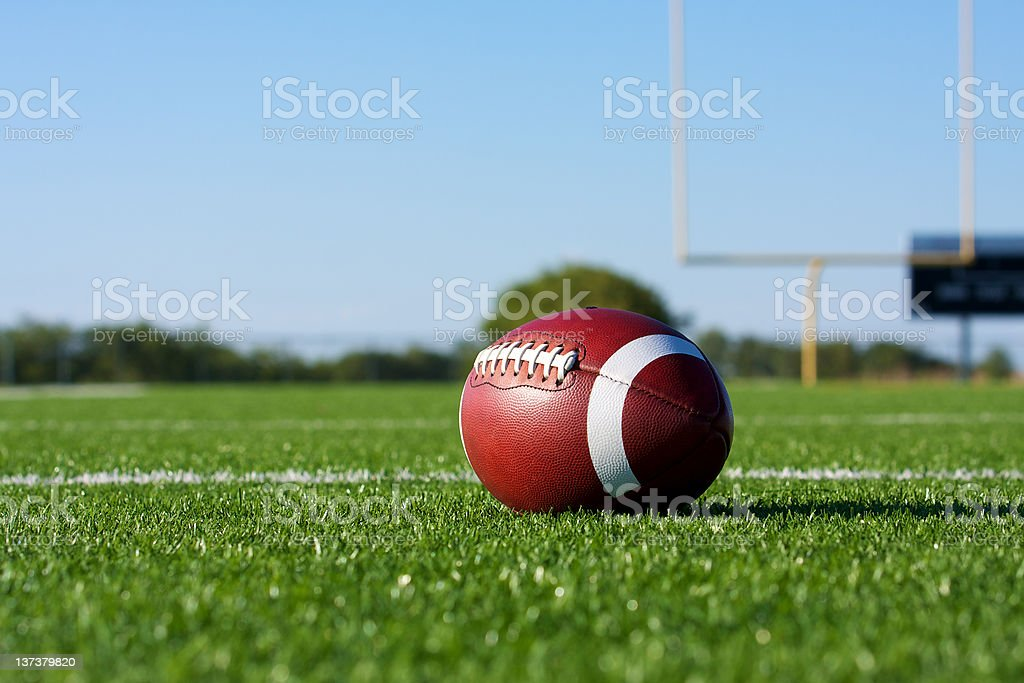 Football with the Goal Posts beyond stock photo