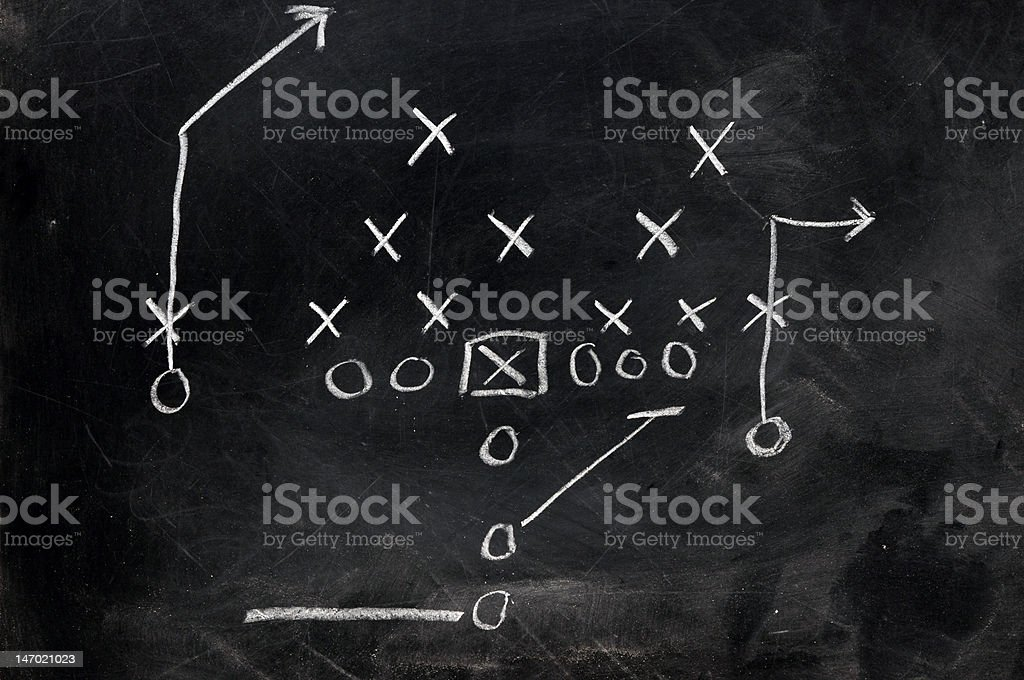 Football X's and O's stock photo