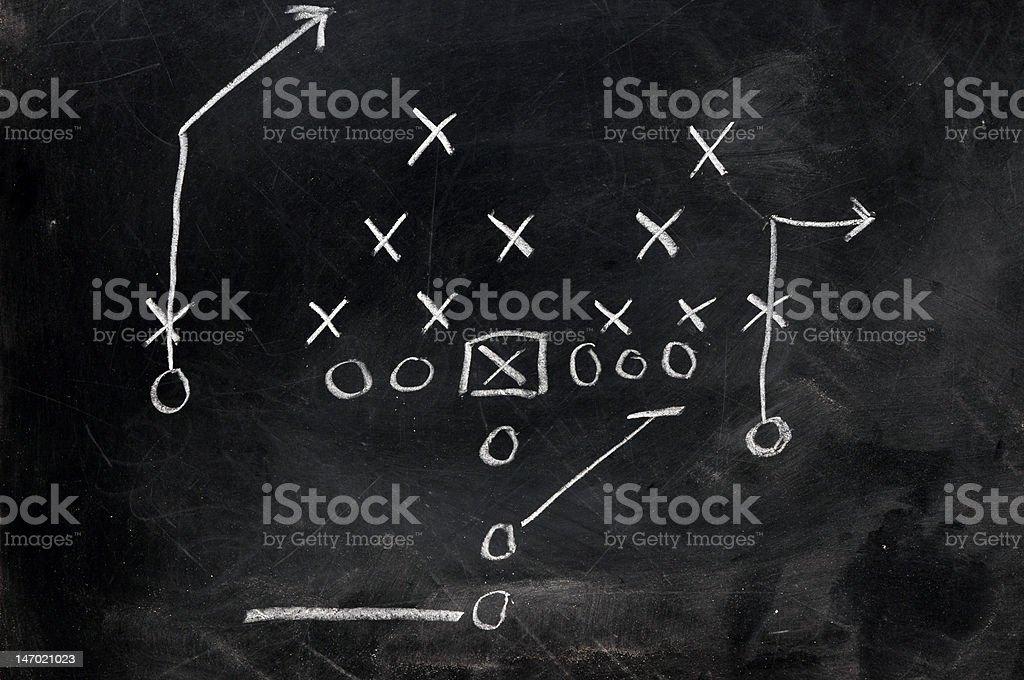 Football X's and O's stock photo