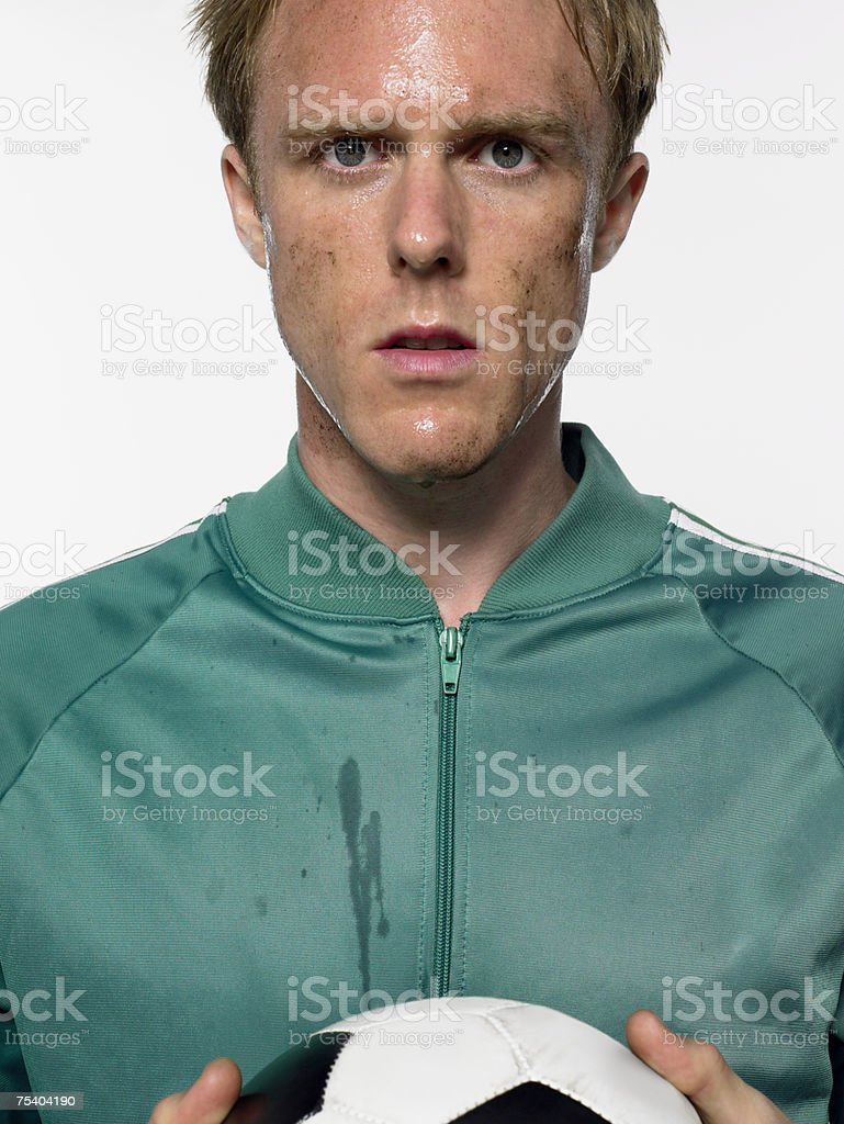 Footballer royalty-free stock photo