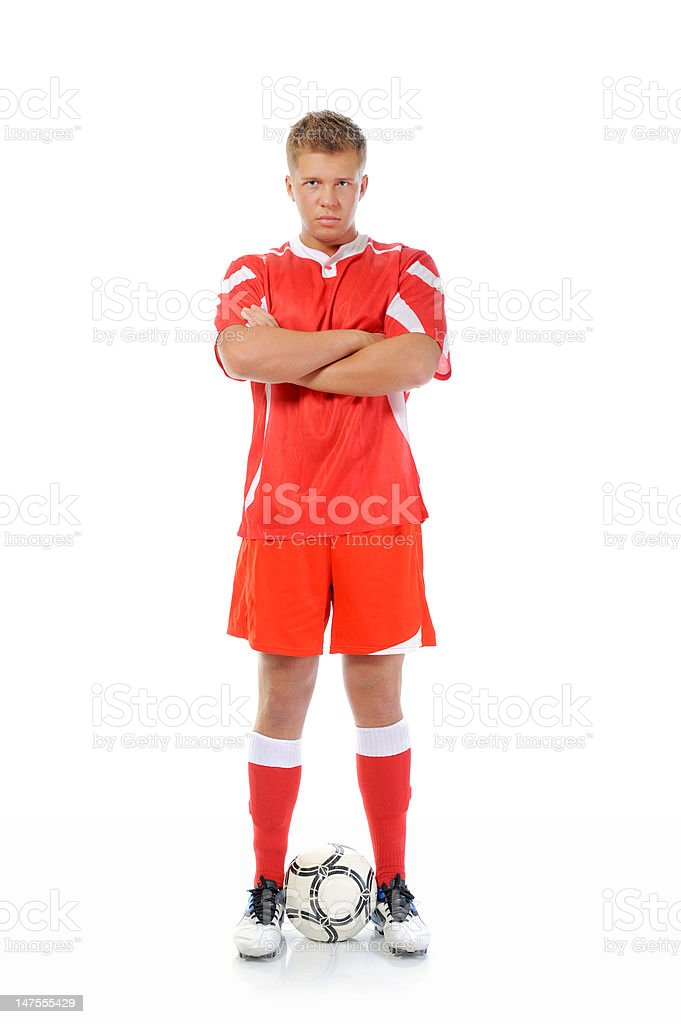 Footballer player royalty-free stock photo