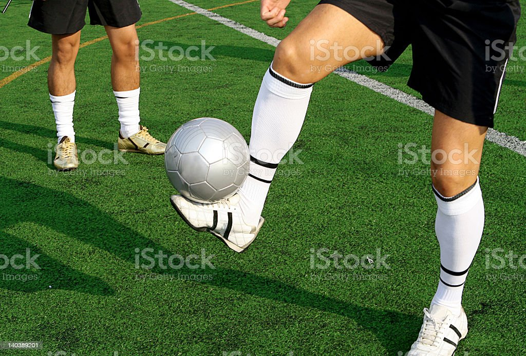 footballers stock photo