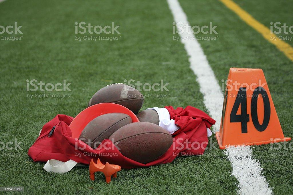 Footballs royalty-free stock photo