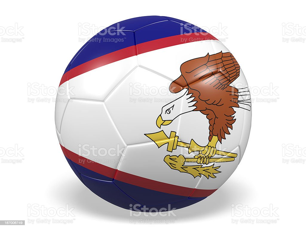 Football/soccer ball with a American Samoa flag. royalty-free stock photo
