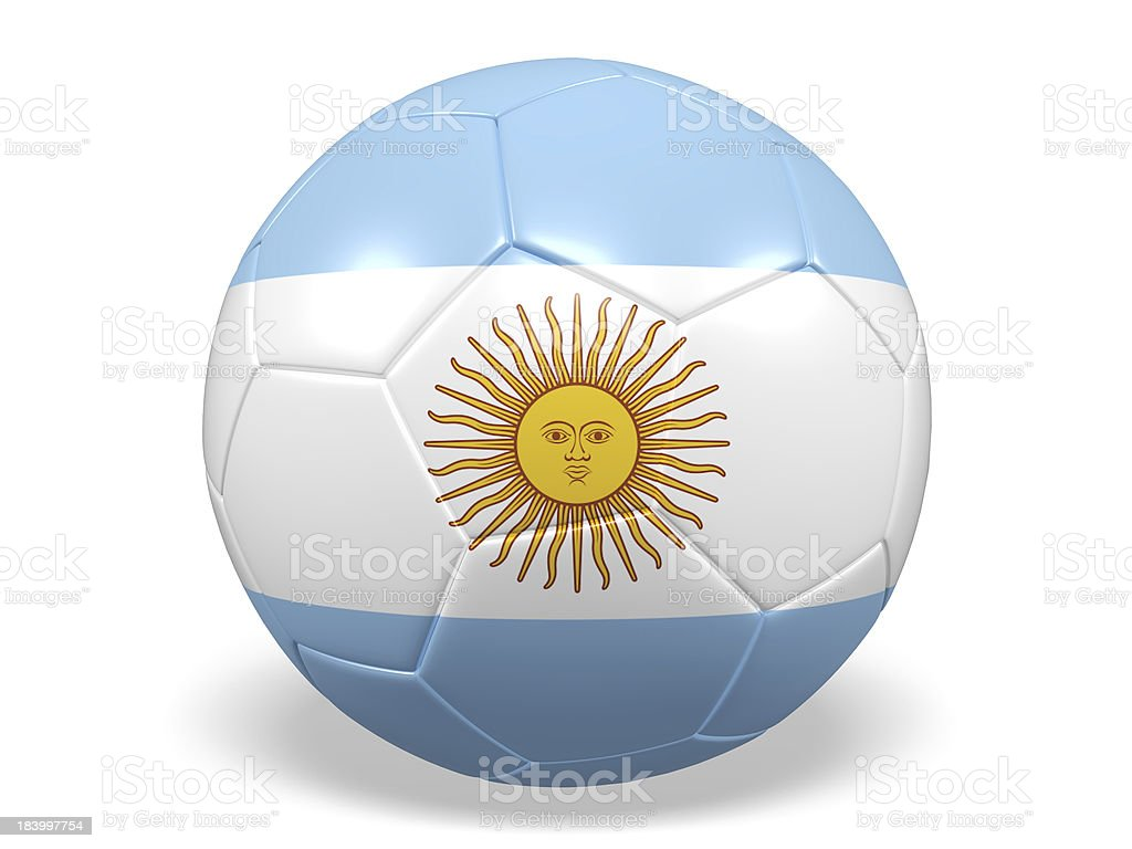 Football/soccer ball with a Argentina flag. royalty-free stock photo