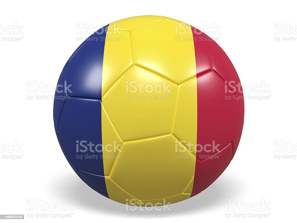 Football/soccer ball with a Chad flag. royalty-free stock photo