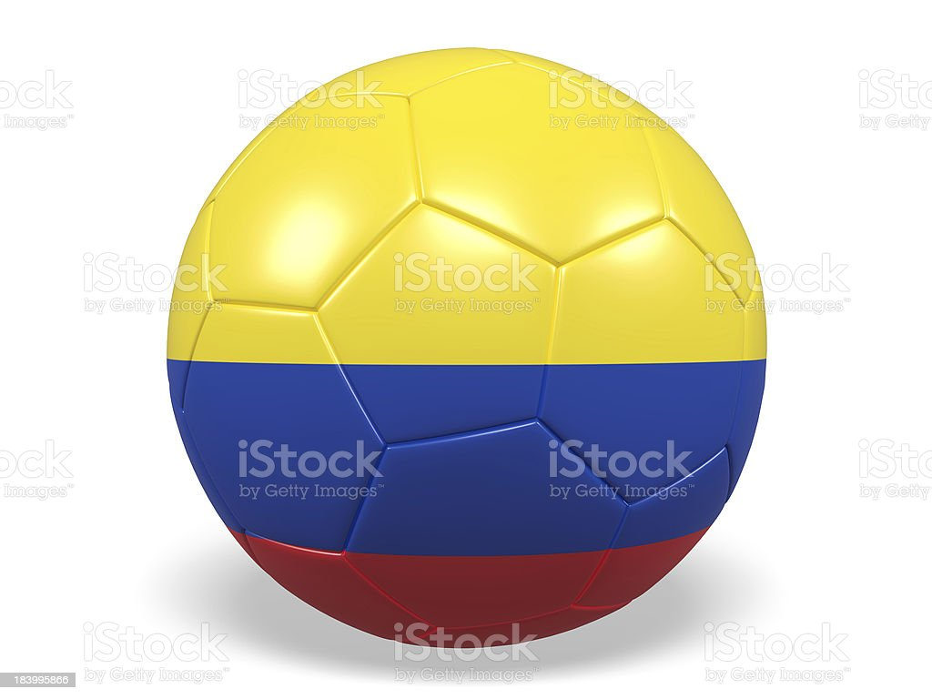 Football/soccer ball with a Colombia flag. royalty-free stock photo