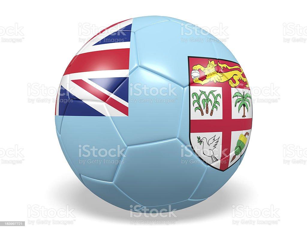 Football/soccer ball with a Fiji flag. royalty-free stock photo