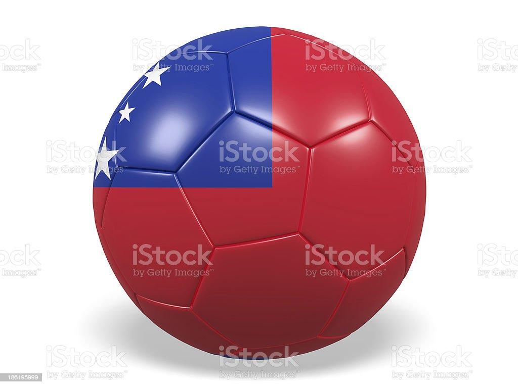 Football/soccer ball with a Samoa flag. royalty-free stock photo