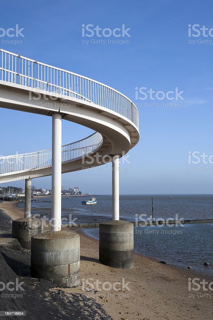 Footbridge at Leigh-on-Sea, Essex, England royalty-free stock photo