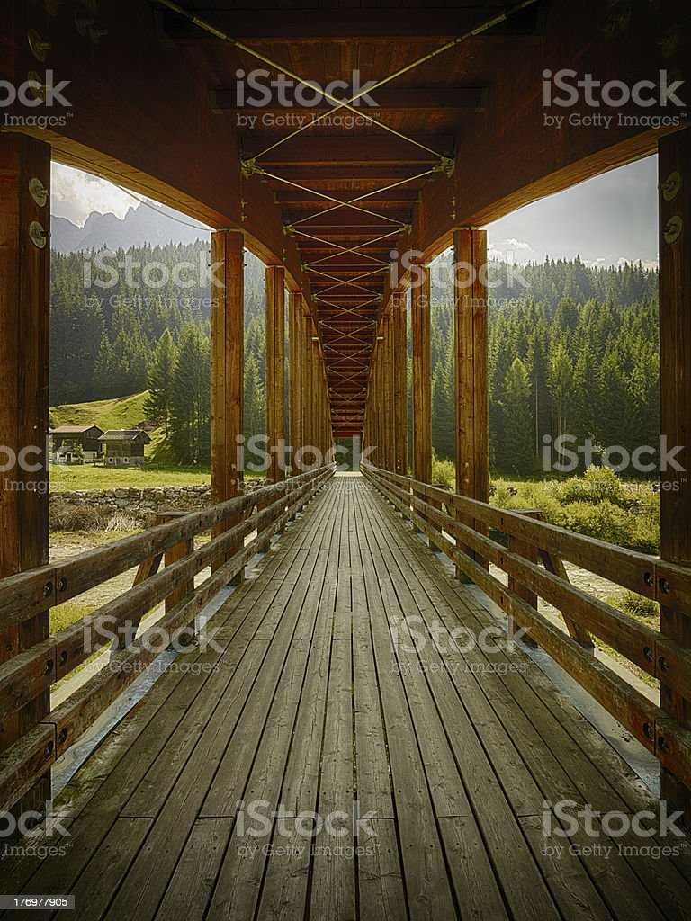 Footbridge. Color Imagee royalty-free stock photo