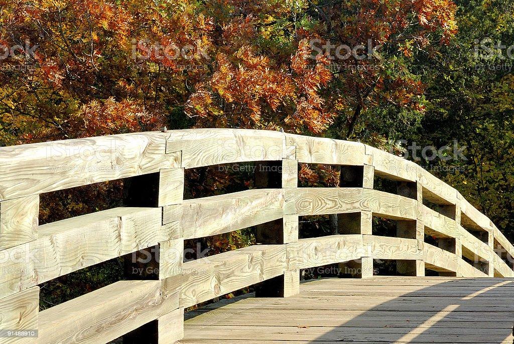 Footbridge in autumn #3 royalty-free stock photo