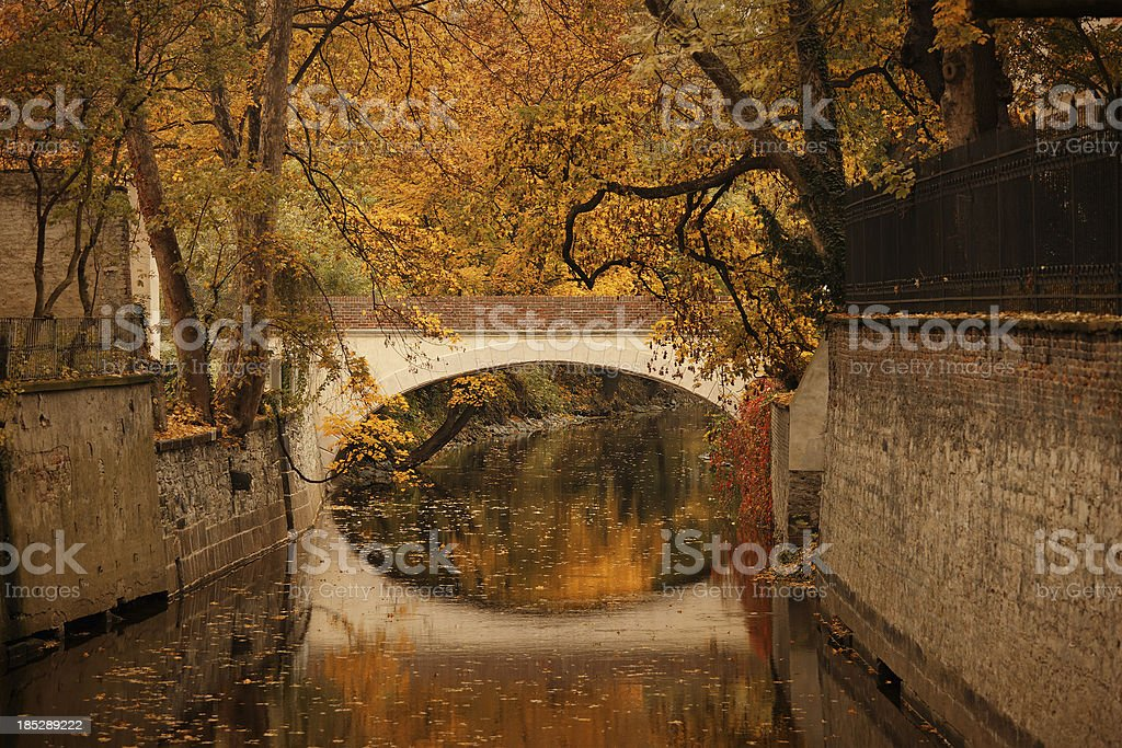 Footbridge in the Kampa park, Prague royalty-free stock photo