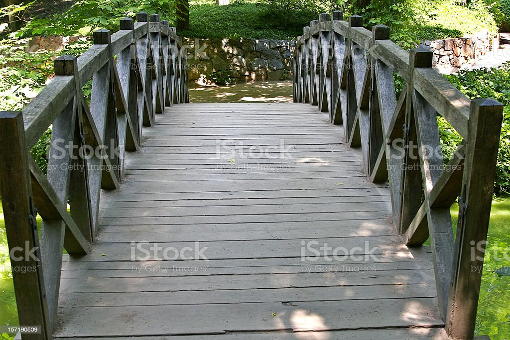 Footbridge in the Park 2 royalty-free stock photo