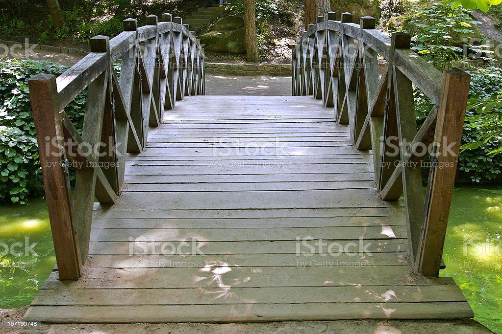 Footbridge in the Park 4 royalty-free stock photo