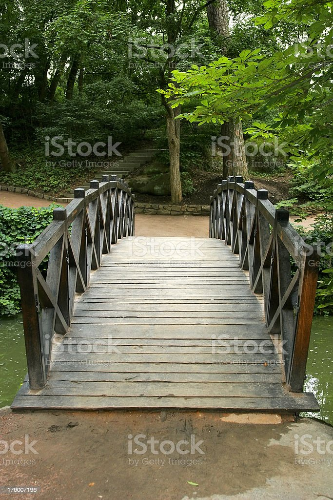 Footbridge in the Park royalty-free stock photo