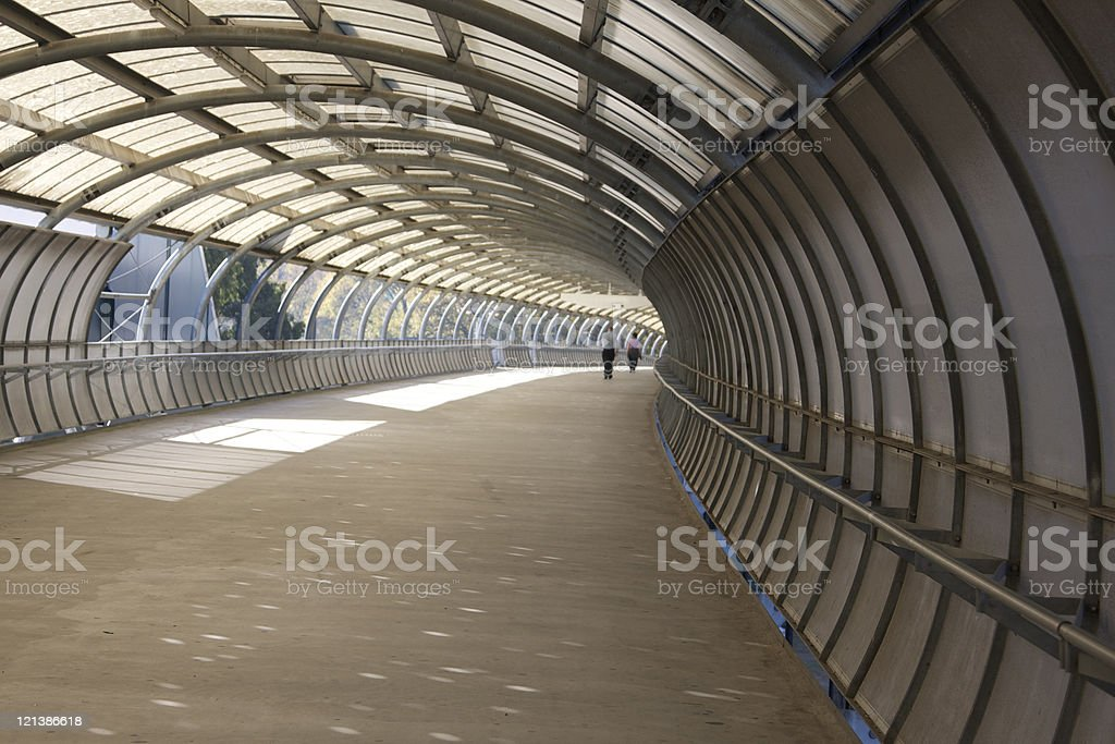 footbridge stock photo