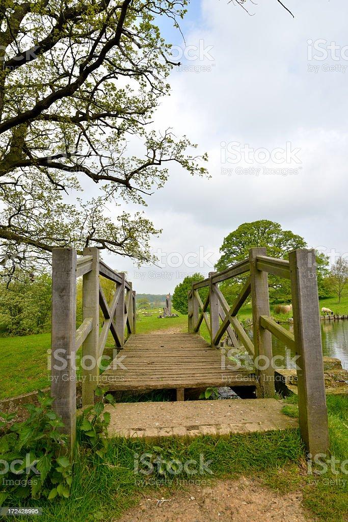 Footbridge. stock photo
