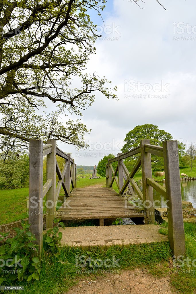 Footbridge. stock photo